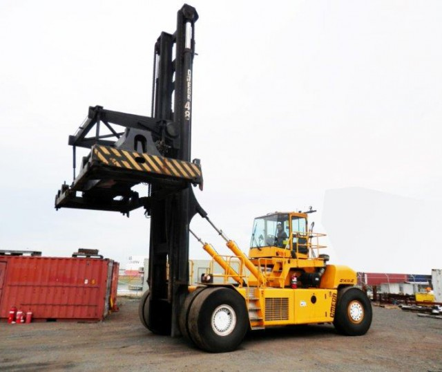 Laden Container Handling Forklifts